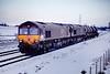 66243+66249 6D07 York to Doncaster @ Burton Salmon on November 30th 2010