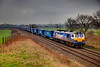 """92017 """"Bart the Engine"""" sweeps a seemingly endless 4S43 Rugby to Mossend """"Tesco Express"""" northbound at Redbank on March 4th 2011"""