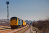 31106 pauses at HM for a crew lunch break while working a 2Q08 Doncaster to Doncaster track recording train,  deputising for the broken sprinter on  March 7th 2011