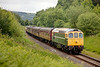 D6586 in Burrs Cutting with a 2J72 12:46 Rawtenstall to Bury on July 1st 2011.