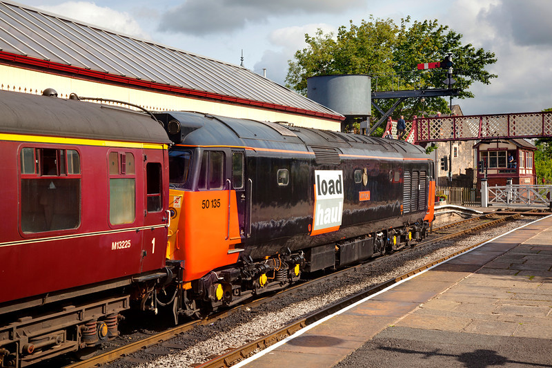 50135 shut down in Ramsbottom after arrival with a 2F61 09:oo ex bury on July 1st 2011