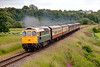 """Slim Jim"" D6586 turns on the horses working a 2J71 Bury to Rawtenstall at Burrs on July 1st 2011"