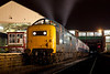 """Deltic """"Retro"""" 2.  a Powerfulll crop of 55022 at Bury Bolton Stree on a 1970/80's cameo during an EMRPS charter on Saturday"""