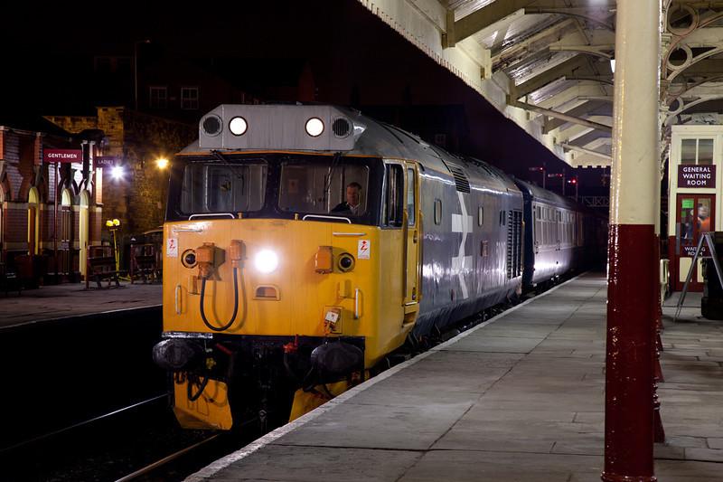 50015 at Bury January 29th 2011.