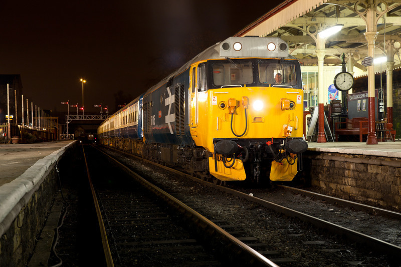 A Powerful crop of 50015 at Bury on an EMRPS charter on January 29th 2011.