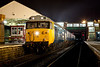 50015 Valiant Idles away on a cold Lancashire night at Bury on an EMRPS Photo Charter on January 29th 2011.