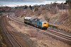 55022 gives D335 a lift to Barrow Hill with a 5Z55 Castleton to Barrow Hill in Horbury Cutting January 11th 2011