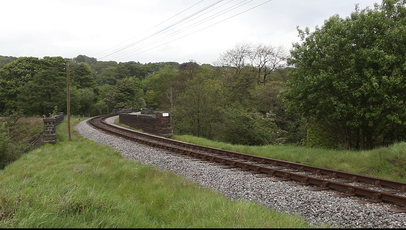 55019 climbs up from Oxenhope to Mytholmes Tunnel with the 15:20 Keighley to Oxenhope on May 20th 2011