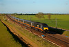 43468 speeds past Colton Junction with a late running 1A66 15:18 Sunderland to London  Kings Cross on 2nd May 2011