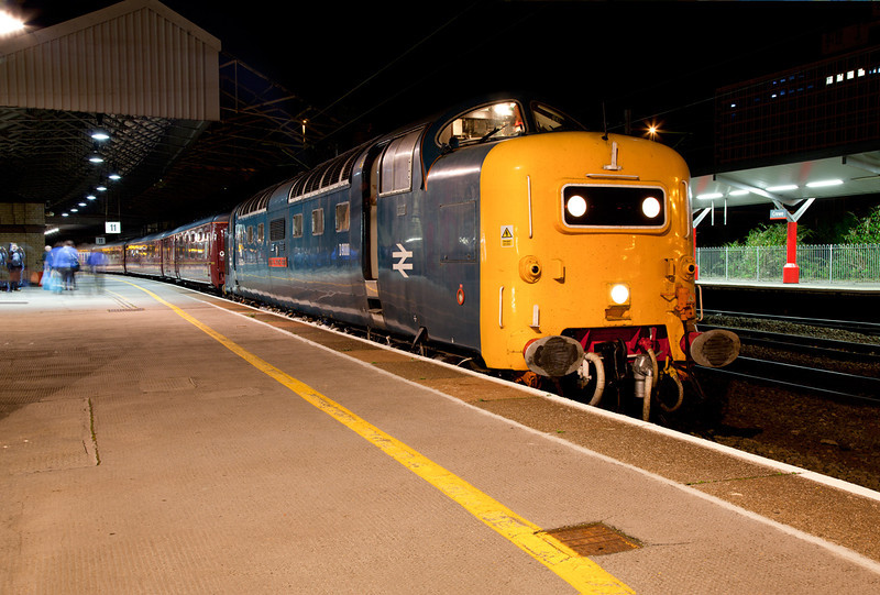 """55022 at Crewe prior to departure with the 1Z47 04:20 Crewe to Oban """"Lochs and Glens Napier"""" on September 14th 2011"""