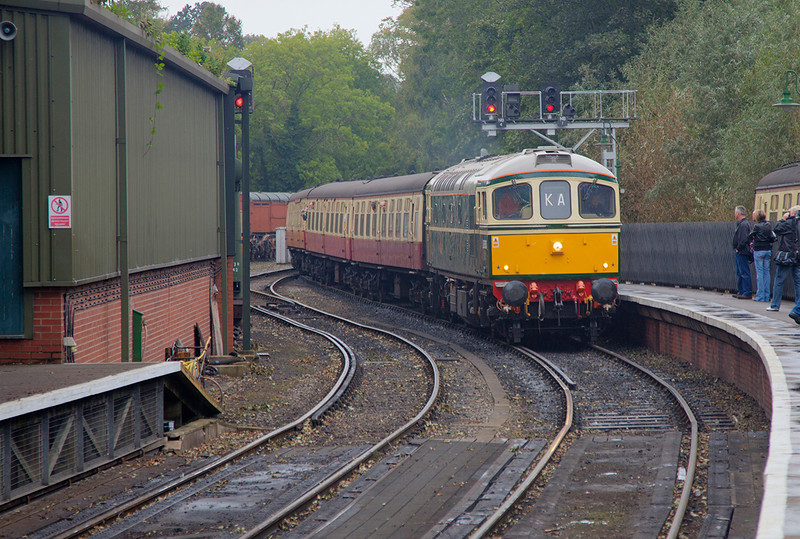 D6515 arrives at Pickering with the 10:30 Grosmont to Pickering on September 16th 2011