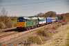"31601+41001 roll past Arla Dairies @ Stouron with a 5Z45 12:00 York NRM to Nevill Hill on 29th March 2012.  The convoy was transferring 41001 to Neville Hill where with the help of the Leeds depot the  Group plan to restore the pioneer ""tram"" to working order with main line certification"