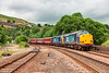 37609+37603 exit Standedge Tunnel at Tunnel End Marsden with a 1Z84 Milton Keynes to Durham Charter 02 24th July 2013