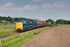 55002 passes through Wensley at the same time as an annoying squiffy cloud on 9th June 2013, while working the 15:45 Leeming Bar to Redmire.