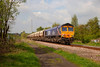 66726 'Sheffield Wednesday' passing Pools Lane Royston with the 6E84 08:20 Middleton Towers to Monk Bretton on 29th April 2014