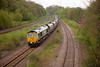 66539 at Quarry Hill Horbury with a 4M58 12:52 Hunslet to Crewe wagon set swap on 26th April 2014