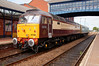 47790 idles at Barnsley waiting the 'right away' to give Caroline 2580 horses up the backside with a 2Z02 08:18 York to Derby Managers Saloon on 13th August 2014