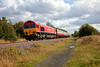 66001 approaches Pools Lane Royston,  shortly after departure from Monk Bretton Glass sidings with a 1Z42 Monk Bretton to Finsbury Park running 15 mins early on 30th August 2014