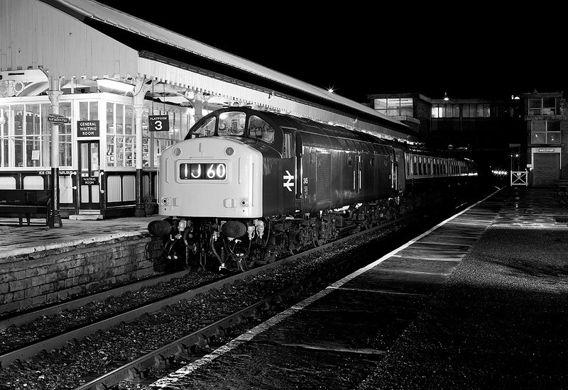 A 'retro' 345 (with head light and new style warning flashes removed) at bury on an Ian Furness/CFPS organised photo charter on 21st June 2014