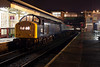 345 posed under the station canopy at Bury (prior to being lit and shot using only the available light) during an Ian Furness/CFPS organised private photo charter on 21st March 2014. A tighter crop<br /> <br /> This is how us 'old enough' remember the Whistlers at night! (admittedly in my case with TOPS numbering!)  :-)
