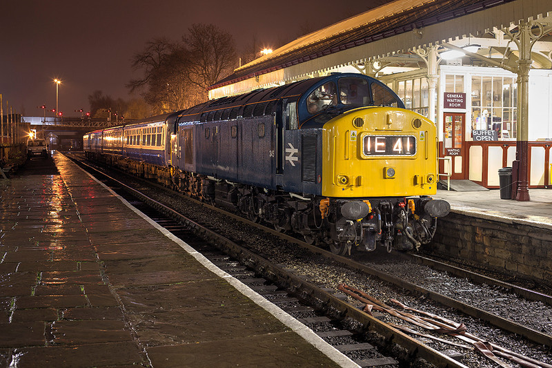 345 stands in the rain at Bury prior to that start of a private photo charter on 21st March, 2014