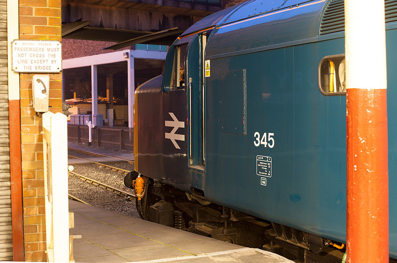 345 awaiting permission to run round at Bury 21st March 2014