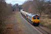 66702 at Walton with the 6E84 08:20 Middleton Towers to Monk Bretton on Saturday 22nd February 2014