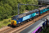 """57308 brings up the rear of the 1Z25 14:18 Harrogate to Leeds """"le tour-ex"""" on 5th July 2014"""
