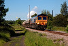 66733 at Pools Lane Royston with Royston Coking Plant in the rear, working the 6E84 09:44 Middleton Towers to Monk Bretton on 18th June 2014