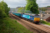 47805 storms through Dewsbury (47828 on the rear) with a 1Z53 05:20 Hereford to Scarborough charter n 10th May 2014