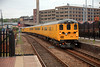 9708 leads the 1Q14 14:29 Derby RTC to Scarborough (powered provided by 31285 at the rear) into Barnsley on 27th May 2014