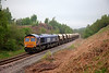 66726 rolls through the cutting  past Royston Coke Works with the 6E84 Middleton Towers to Monk Bretton on 1st May 2014.