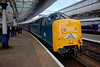 55002 re attached after running around at Aberdeen following arrival from York with the 1Z59 06:24 York to Aberdeen on 12th April 2014