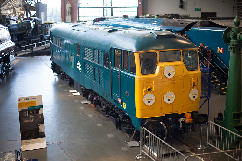 31018 looking rather smart between a Royal Lady and a duck at York NRM on 1st December 2015