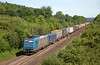 185-535 heads a container freight southward at Remagen on June 14th 2015.
