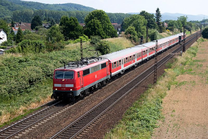 111-191 heads toward Frankfurt at Laudenbach on June 12th 2015