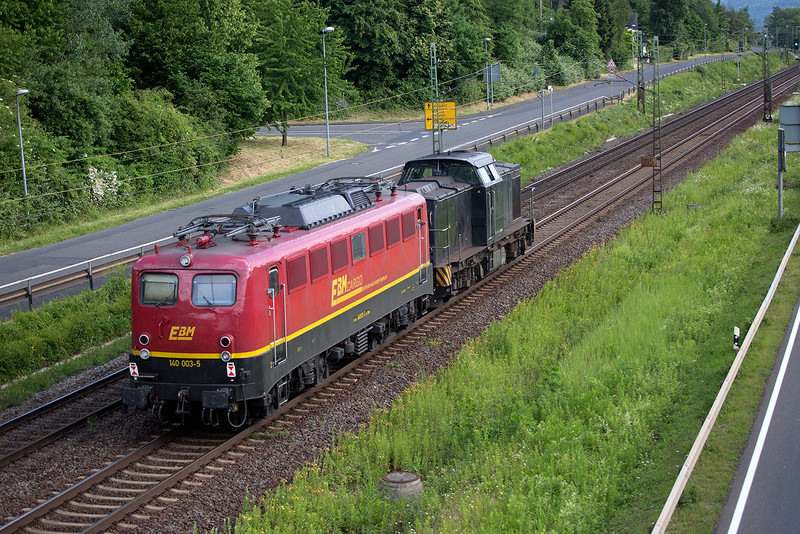 140-003 gets dragged south at Linz on 13th June 2015