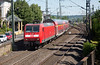 146-019 departs Remagen with an RE5 Koblenz to Emmerich service on June 14th 2015.