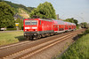 143-168 heads north at Leutesdorf with an RB27 Monchengladbach to Koln on 14th June 2015