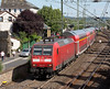 146-021 departs Remagen with an RE5 Koblenz to Emmerich push pull double decker set on June 14th 2015