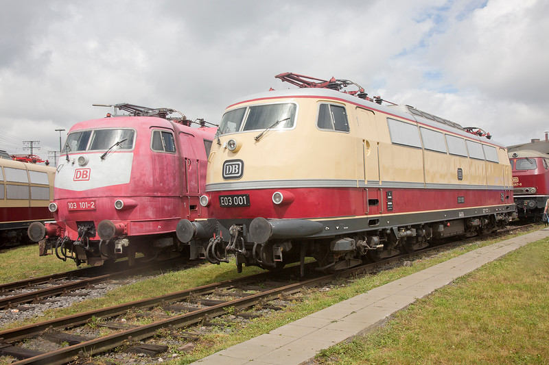 103-101 & E3-001 at Koblenz Lutzel Museum on 13th June 2015