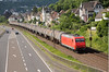 145-045 heads a tank train southbound at Linz on 13th June 2015