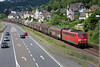 151-140 growls through Linz with a southbound Van train on 13th June 2015