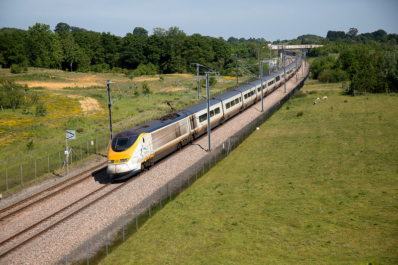 3206 passing Runham Lane with the 15:10 Paris Nord to London St Pancras on 11th June 2015