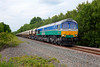66711 rolls past Cold Heindley with the 6E84 08:20 Middleton Towers to Monk Bretton Sand on 25th June 2015