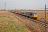56312+56311 passing Joan Croft Junction  a few mins late with a 5Z56 09:00 Wolsingham to Derham on Friday 20th March 2015
