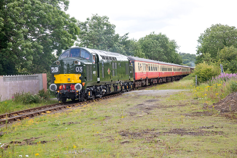 37057 arrives at Leyburn with the 09:45 Northallerton West to Redmire on July 18th 2015