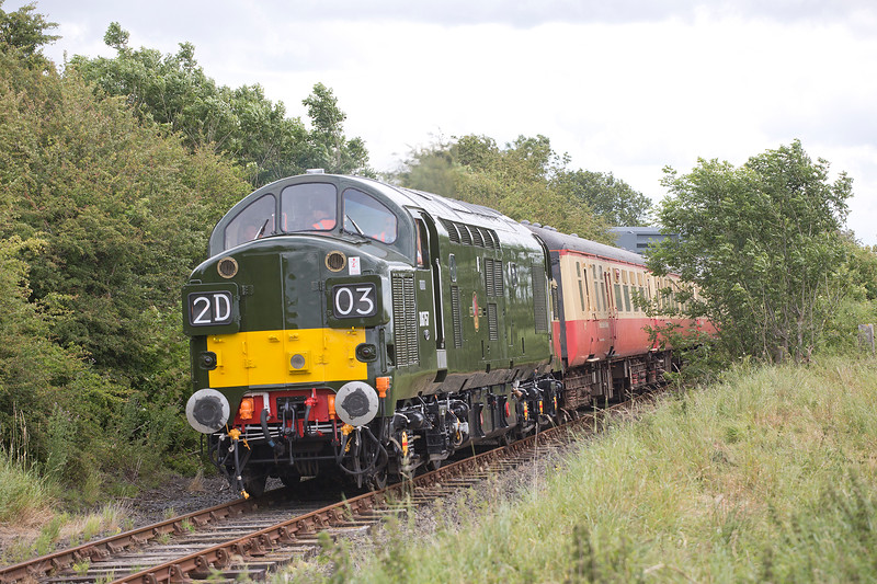37057 at Preston-under-Scar with the 09:45 Northallerton West to Redmire on 18th July 2015.  The Eagle eyed amongst you may spot Mr Anthony hicks enjoying the growl :-)