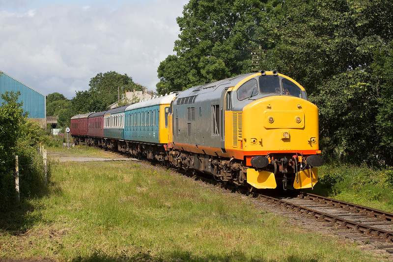 37674 departs Leyburn with the 10:20 Redmire to Leeming Bar on 18th July 2015