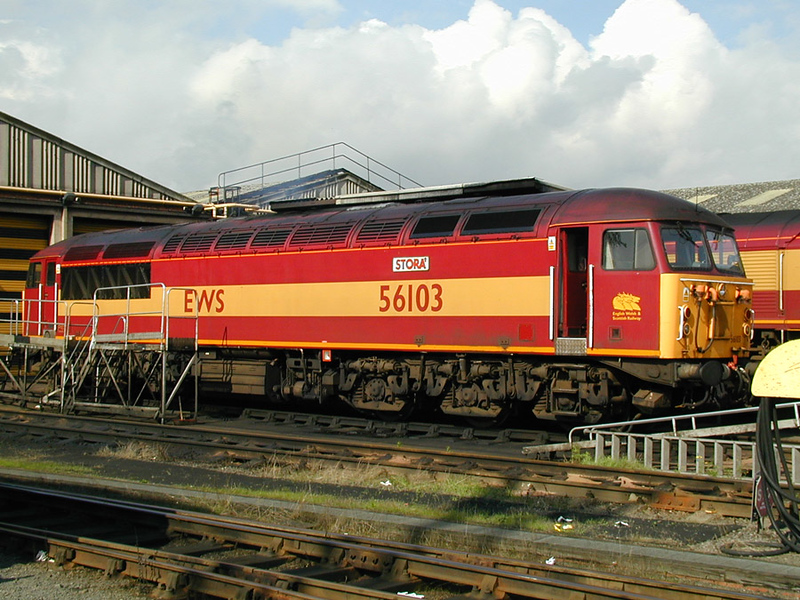 "56103 ""on shed"" at Knottingley 20-09-00"